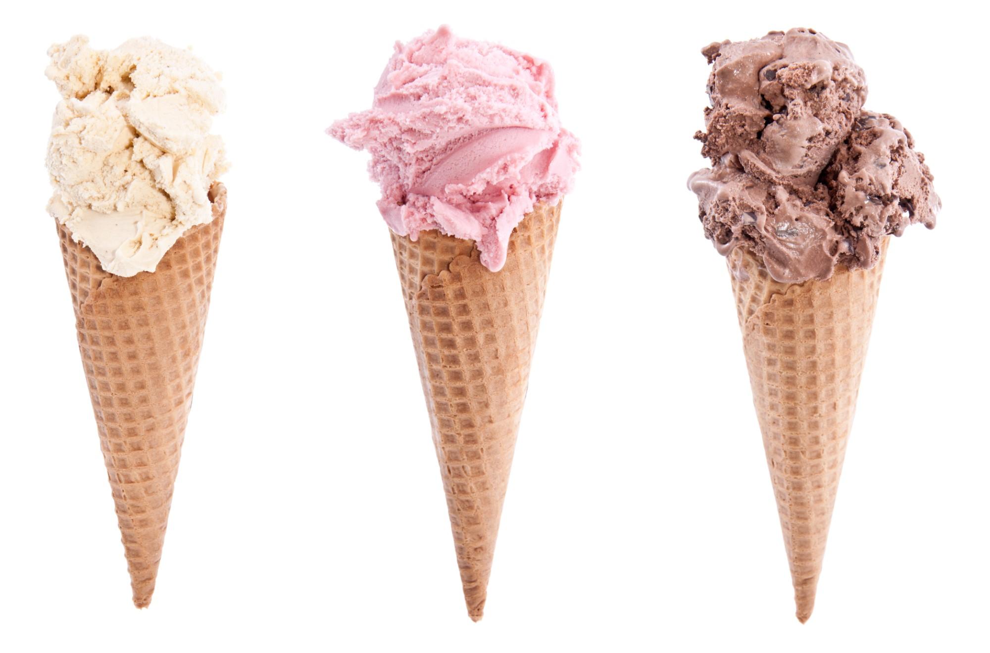 Tres conos de helados